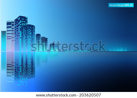 modern metropolis city at night