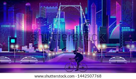 modern metropolis night