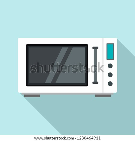 Modern microwave icon. Flat illustration of modern microwave vector icon for web design