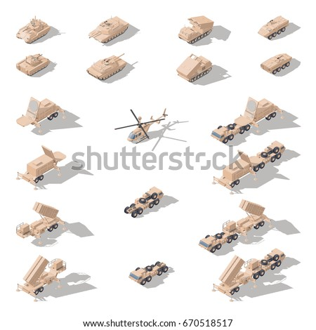 modern military equipment in