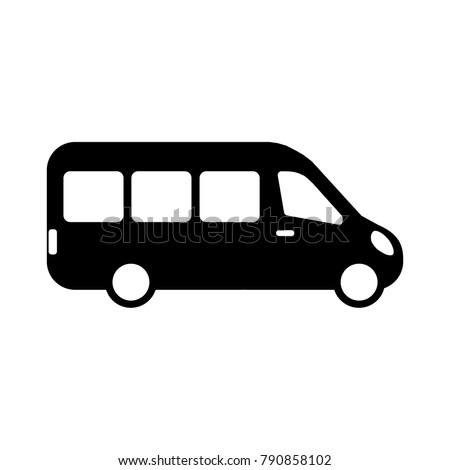 Modern minibus icon vector ストックフォト ©