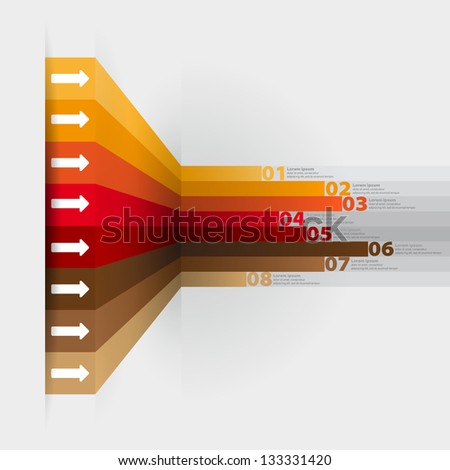 Modern minimal business step style options banner infographics - Vector - stock vector