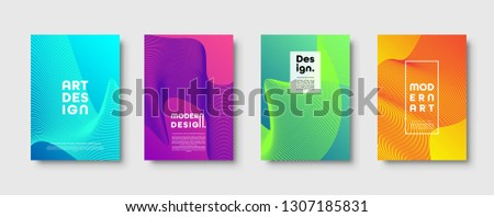 Modern minimal colorful abstract background, lines and geometric shapes design. Neon UFO green, proton purple, plastic pink halftone gradient color. Eps10 vector