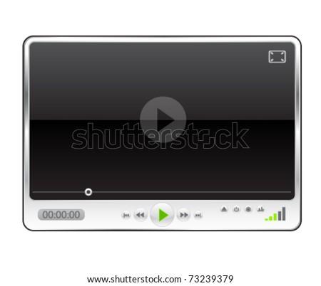 Modern minimal media player