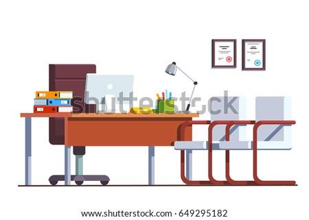 modern minimalist boss office