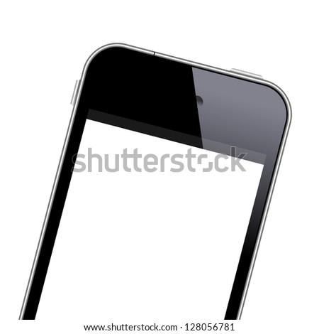 Modern mobile phone close-up shot. Vector EPS10