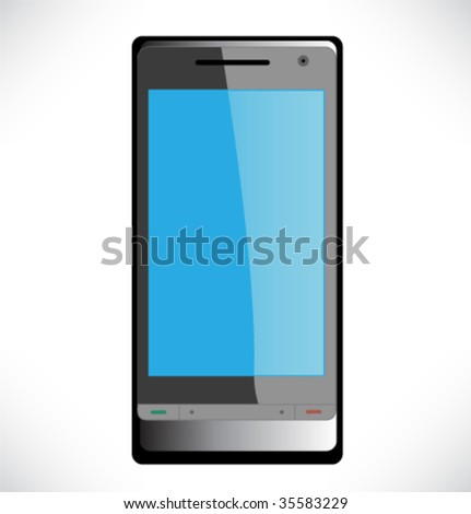 Modern mobile phone, vector illustration.