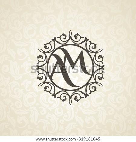 modern monogram  emblem  logo