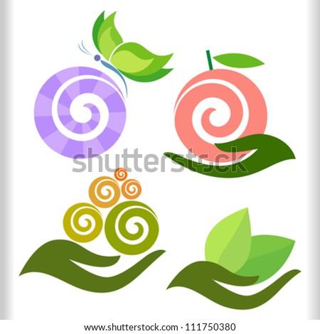 Modern Nature Symbols Set