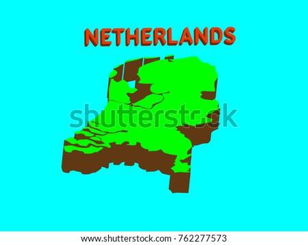Netherlands Flat Map Download Free Vector Art Stock Graphics