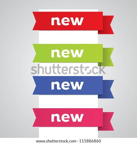Modern new ribbon banner design elements.