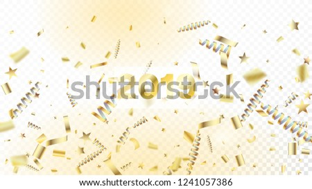 modern new year confetti realistic falling golden tinsel cool elegant christmas new year