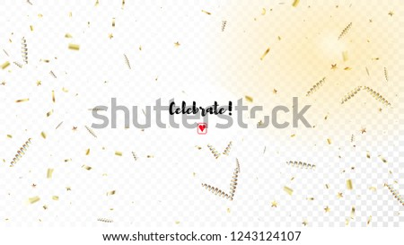 modern new year confetti realistic falling golden tinsel horizontal fairy night sky background cool