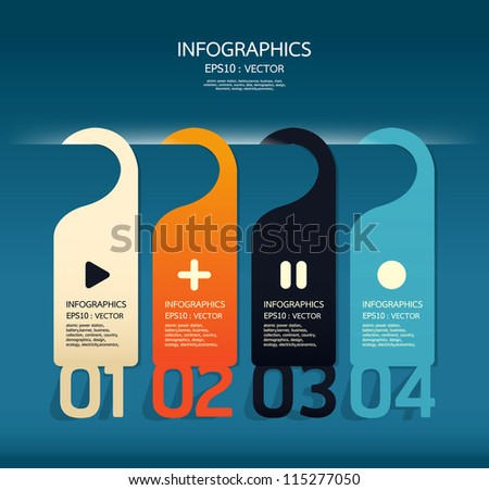Modern number banner Design template / can be used for infographics / numbered banners / horizontal cutout lines / graphic or website layout vector