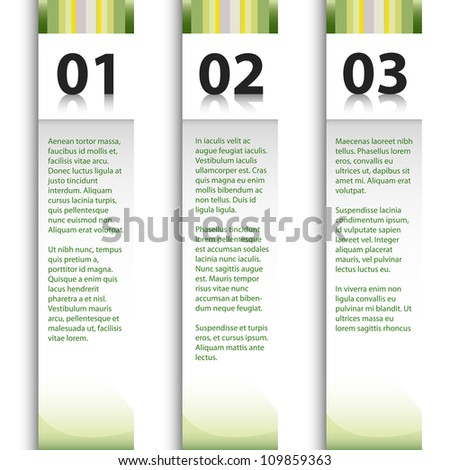 Modern numeral advertising banner with sample text.