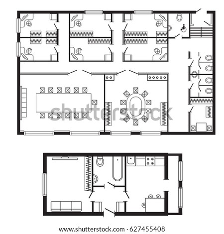 Beau Modern Office Architectural Plan Interior Furniture And Construction Design  Drawing Project