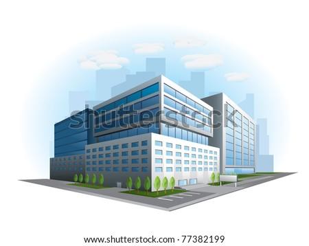 modern office building vector
