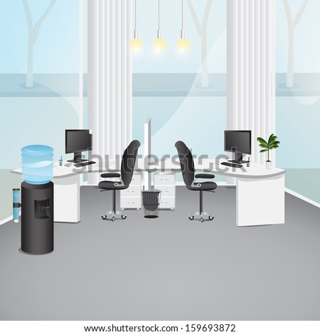 Modern office vector illustration graphic design for Office design vector