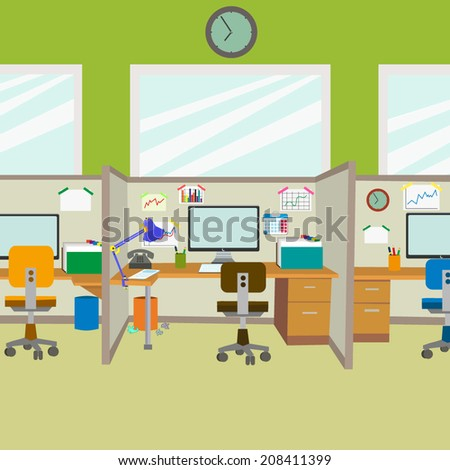 modern office workplace in the
