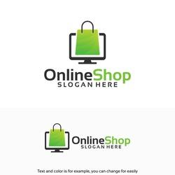 Modern Online Shop Logo designs Template