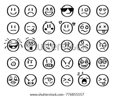 modern outline style emoji