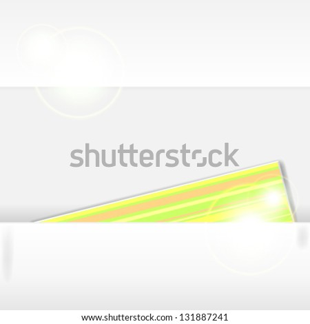 Modern paper cut background with colorful note