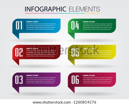 modern paper text box template, banner Infographic