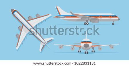 modern passenger airplane