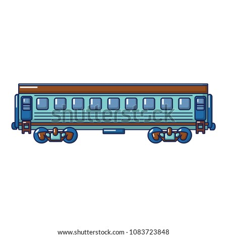 Modern passenger wagon icon. Cartoon of modern passenger wagon vector icon for web design isolated on white background