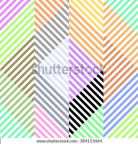 Modern Pattern With Colorful Stripes. Geometric lines.