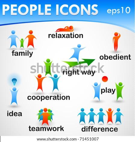 Modern People Icons set