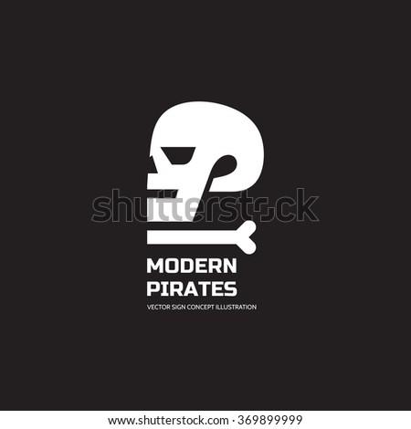 modern pirates   vector logo