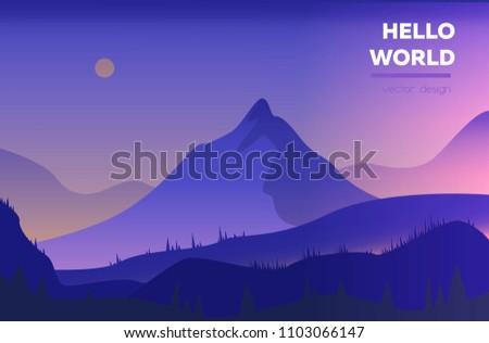 modern polygonal landscape