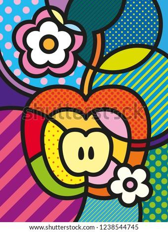 modern pop art apple