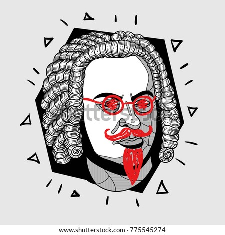 modern portrait of composer and