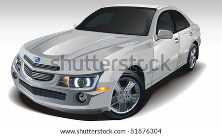 modern powerful sports sedan