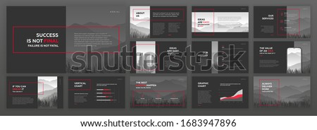 Modern powerpoint presentation templates set. Use for modern keynote presentation background, brochure design, website slider, landing page, annual report, company profile, facebook banner.