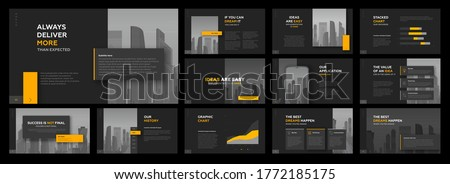 Modern powerpoint presentation templates set. Use for modern keynote presentation background, brochure design, website slider, landing page, annual report, company profile, facebook banner.