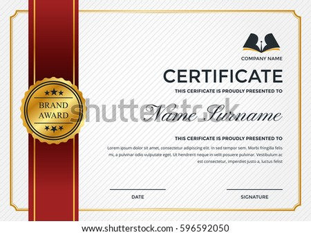 Certificate Of Achievement | Premium Certificate Of Appreciation Award Design Download Free