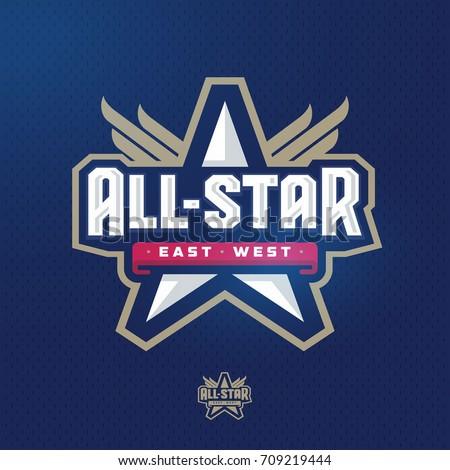 Modern professional all star sport template logo design