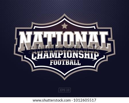 Modern professional american football logo for sport team
