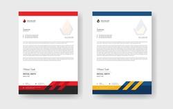 Modern Professional corporate business style letterhead. Abstract Creative Letterhead Design