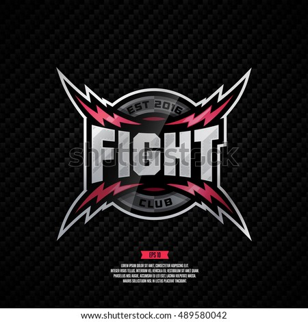 Modern professional fight club logo design.