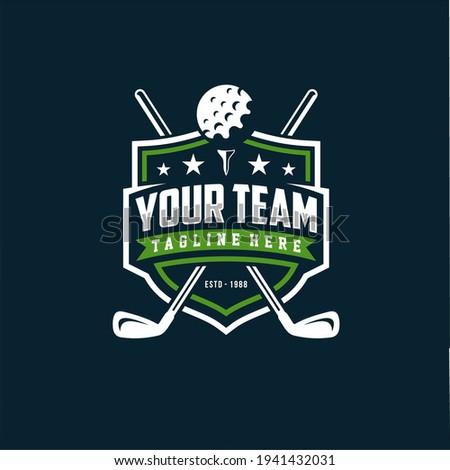 Modern professional golf template logo design for golf club