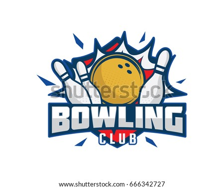Modern Professional Isolated Sports Badge Logo - Bowling Club Association