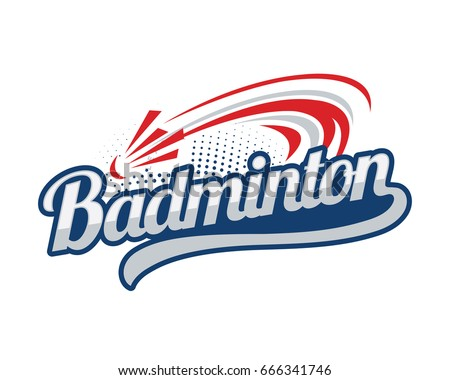 Modern Professional Isolated Sports Badge Logo - The Badminton Club