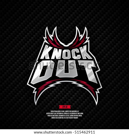 Modern professional knockout fighting logo design.