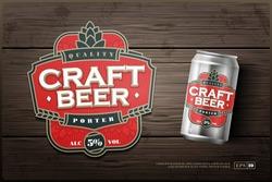 Modern professional label logo design template for a craft beer