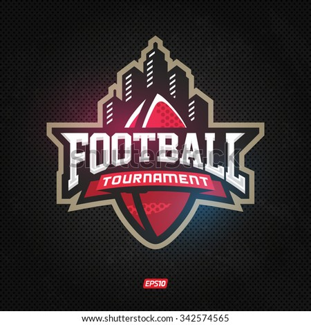 Modern professional logo for american football game events