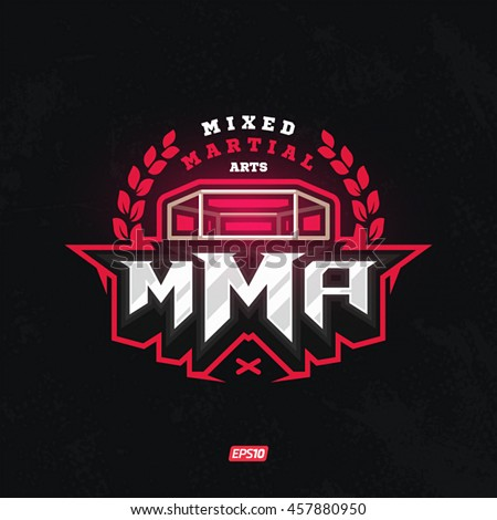 Modern professional mixed martial arts template logo design